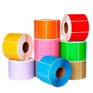 Любые размеры цветной этикетки в рулонах   Etichete.eu