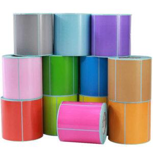 Заказать цветные самоклеящиеся этикетки в ряд   Etichete.eu