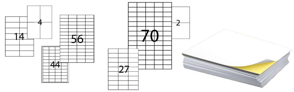 Заказать самоклеющуюся бумагу формата А4, этикетки на бумаге а4. Болшой выбор размеров | Etichete.eu
