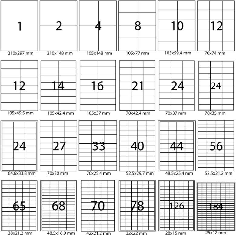 Приобрести самоклеящуюся этикетку А4 разных размеров | Etichete.eu